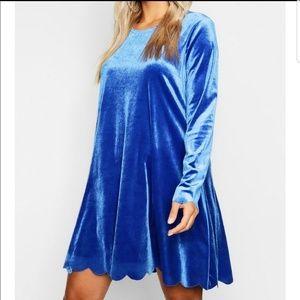 Plus size (20l) scalloped velvet swing dress